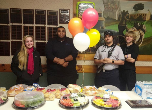 Heroes From The Kutztown Giant Store 6486 Delivered Trays And Goodies To The Local Fire Department As A Way To Say Thank You For Their Service!