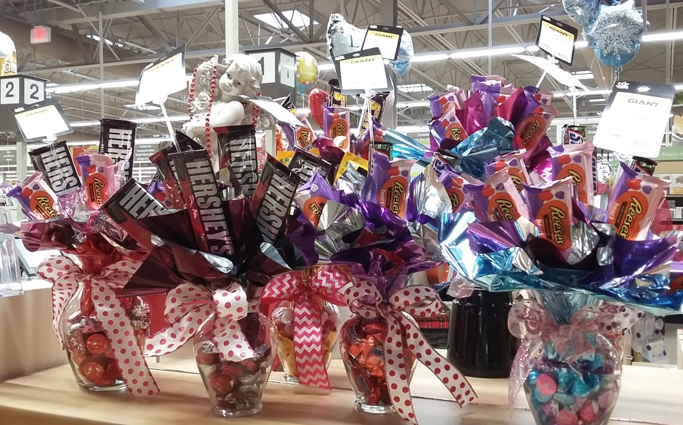 Valentine's Candy Arrangements Ready For Customers At Lewisburg, PA, Store 6332