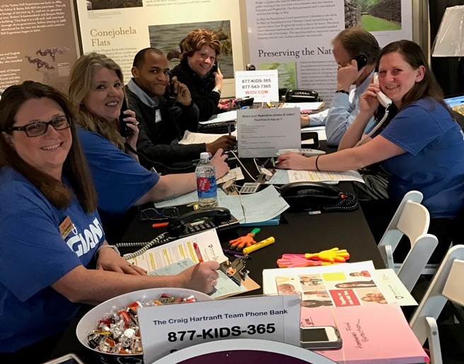 Associates From Districts #142 And #145 Got Together To Help Support The CMN Radiothon On WIOV 105 FM