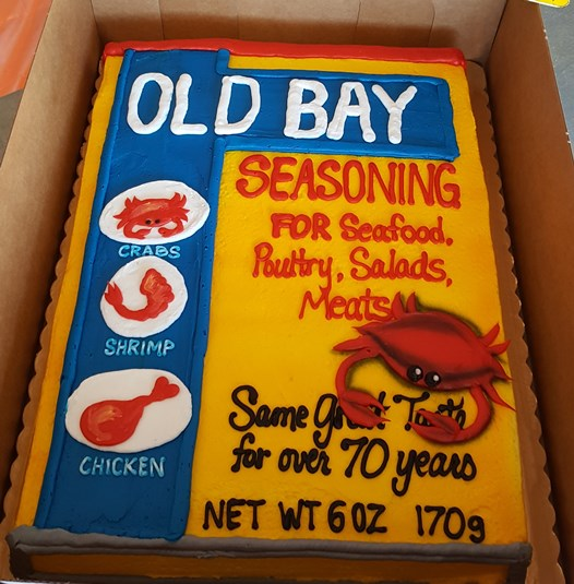 Check Out This Old Bay Cake Created By Renee, The Hanover, PA, Bakery Manager, For The Store's Hooper's Crab Wagon Event On October 15