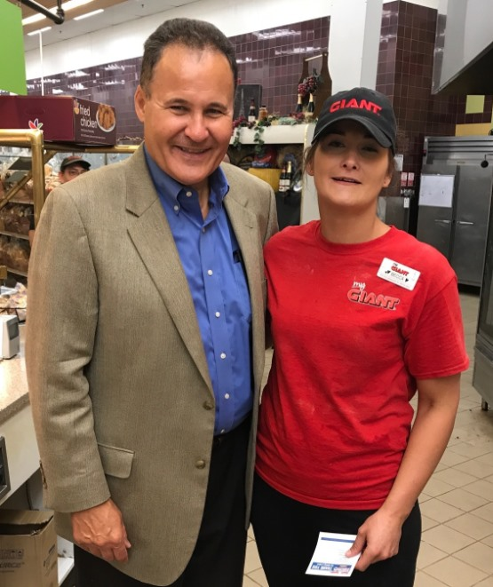 Division President Tom Lenkevich And Hero Rebecca Hoffman At York, PA, Giant #6294