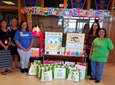 Giant Store #6090 In Halifax, PA, Donated School Supplies And Healthy Snacks To The Enders-Fisherville Elementary School