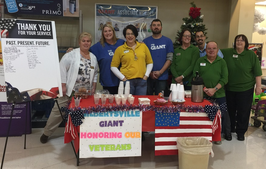 Gilbertsville, PA, Giant Associates Showed Their Appreciation For Veterans By Offering Donuts And Coffee On Veterans Day