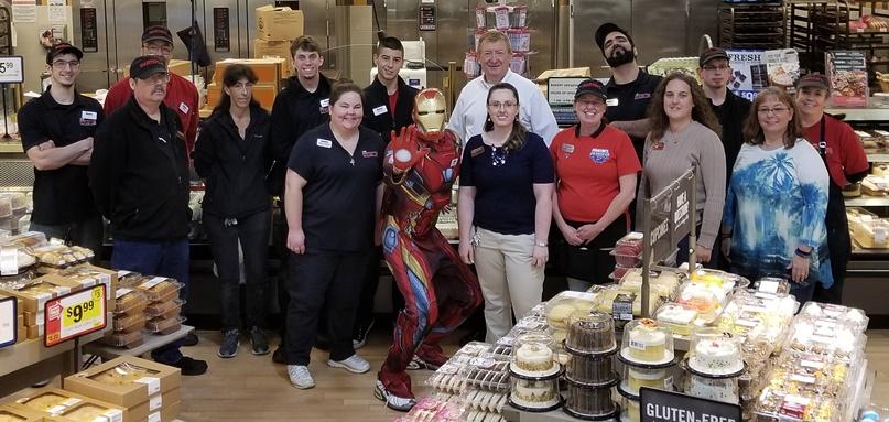 Iron Man Visits The Heroes At The Front Royal, VA, Martin's