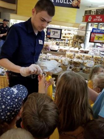 Patrick Of The Warminster, PA, Giant Store, Gave Out Gluten Free Cookies To Kids As Part Of The Field Trip Factory Program