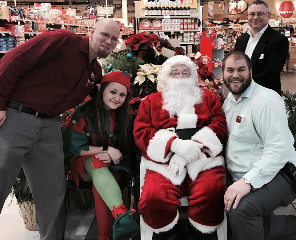 Santa And His Elf Visit With Store Leadership At Store 6121 In Berwick, PA