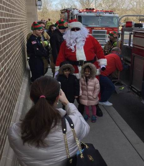 Santa And The Eagle Fire Department Visited The New Hope, PA, Giant, Which Raised $200 For The Department Through Hot Dog Sales