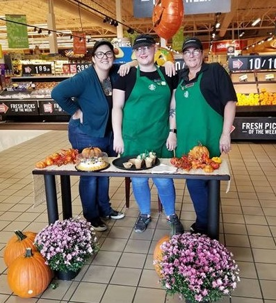 Sarah, The Starbucks Lead From The Hagerstown, MD, Martin's, Rallied Her Team To Celebrate The Birthday Of The Pumpkin Spice Frappuccino, Handing Out Samples And Offering Slices Of Birthday Cake!