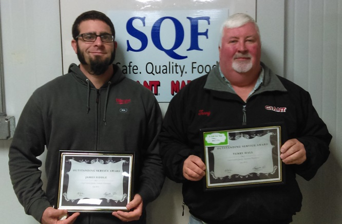 Terry Hall And Jim Siddle Won The Outstanding Quality Assurance Service Awards For June And July