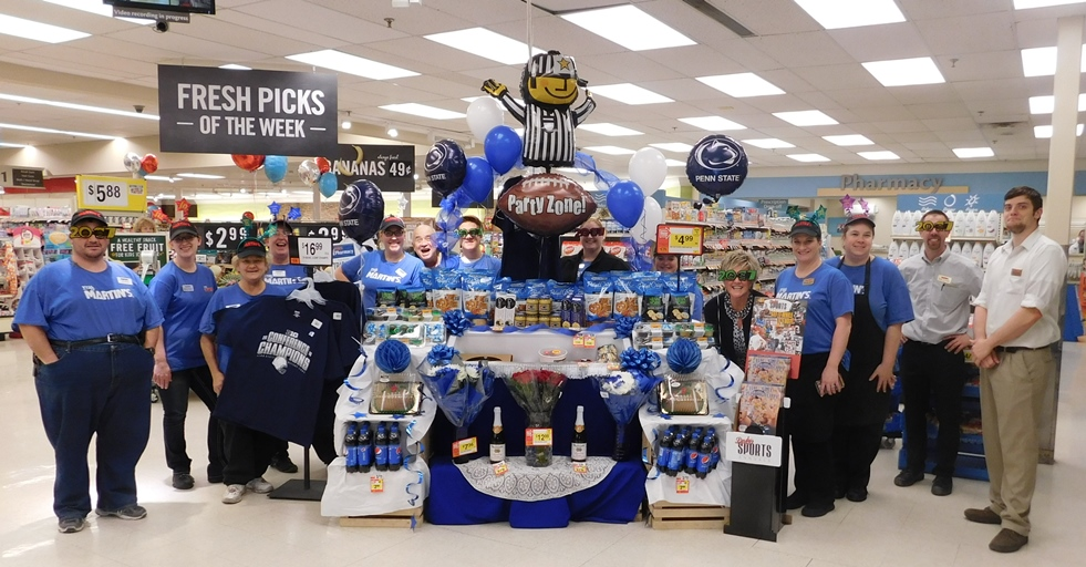 The Altoona, PA, Martin's Store 6012 Made A Display For The Penn State Rose Bowl Game