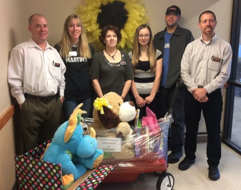 The Altoona, PA, Martin's Filled A Wagon And Box With Toys To Be Donated To The Children's Hospital In Pittsburgh In Loving Memory Of Natalia LaPenna