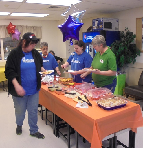 The Team At Front Royal, VA, Martin's #6282 Treated Associates To A Fiesta Friday, Cooking Tacos, Enchiladas And Rice Casserole Plus Fantastic Desserts!