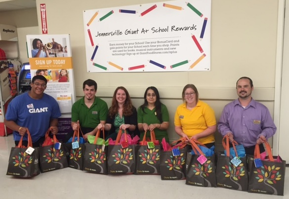 The Jennersville, PA, Giant Put Together Back To School Bags For Local Students