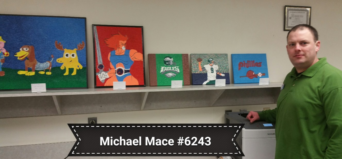 our heroes show their talent giant martin s michael mace shows his artwork at allentown pa giant 6243