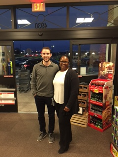 COM Lynette Reeves With NHL Player Shayne Gostisbehere At The Brookhaven, PA, Giant