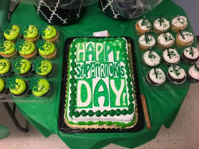 Enjoying The St. Patrick's Day Treats!