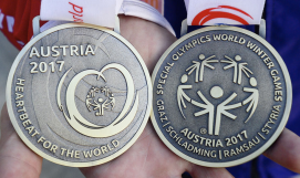 Patrick Speaker captured two bronze medals at the Special Olympics in Austria