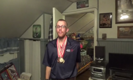 Patrick Speaker of the Hagerstown, MD, Martin's is going for gold at the Special Olympics in Austria