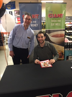 Store Manager Mark Gregor With NHL Player Shayne Gostisbehere