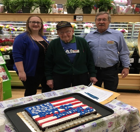 Surprising Giant Hero And WWII Vet On His Birthday