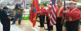 The Allentown, PA, Giant store 6074 joined with a Marine color guard to celebrate veteran Bob Longenberger's 92nd birthday