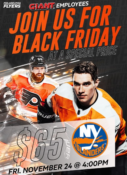 Save On Flyers-Islanders Tickets For Black Friday!