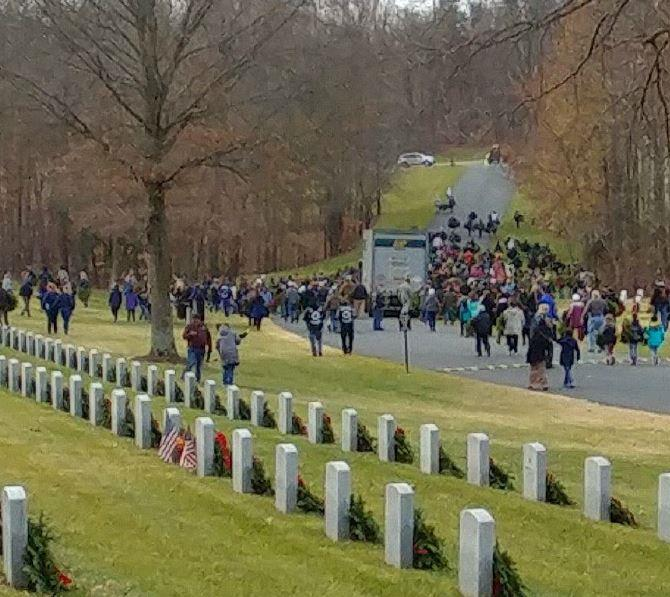About 1,000 Volunteers Helped Finish The Project At Quantico National Cemetery