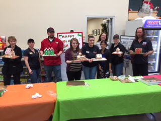 Store # 6332 Hosted A Fun Gingerbread House Competition, As Customers Were Watching And Cheering On.