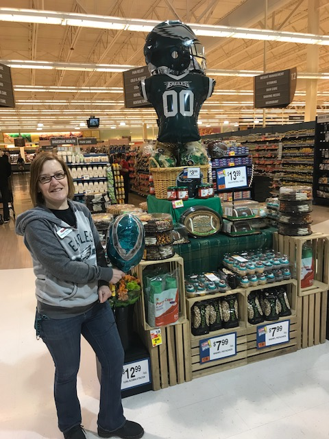 Willow Grove, PA, Giant Scores A Touchdown With Their Display Supporting The Philadelphia Eagles