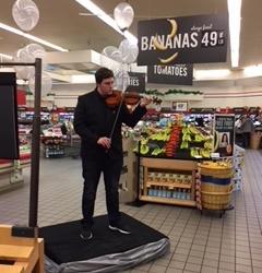 Nathan Duvall Performs The Violin At Leola, PA, Store 6117
