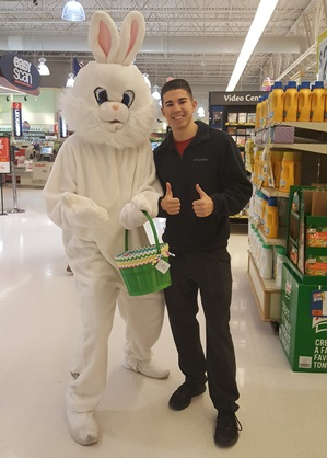 Gavin Keller At Selinsgrove, PA, Store 6453 Welcomes The Easter Bunny